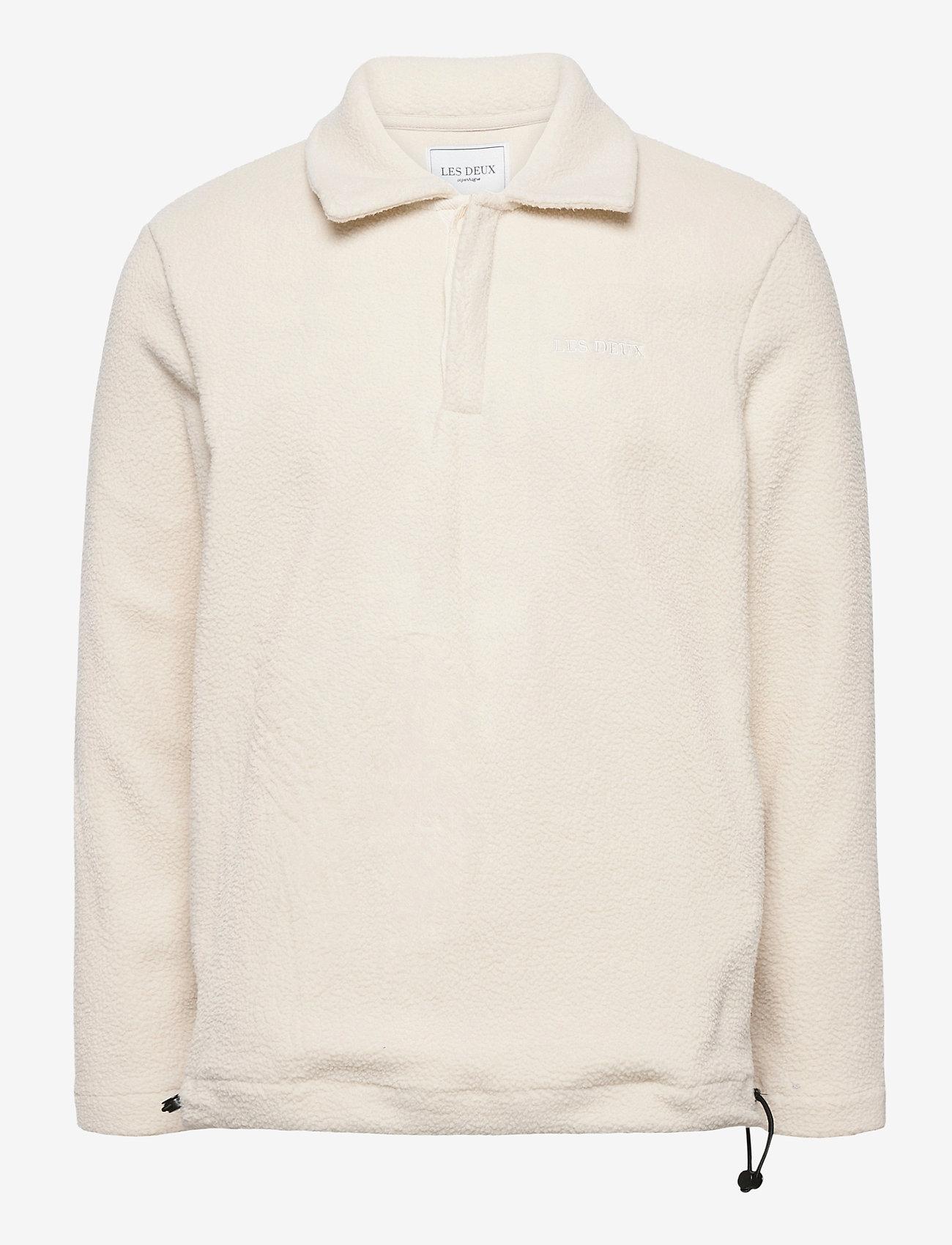 Les Deux - Dallas Fleece Rugby Sweatshirt - basic-sweatshirts - off white - 0