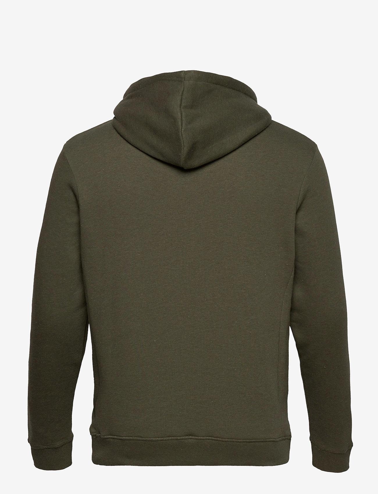 Les Deux Piece Hoodie - Sweatshirts DARK GREEN MELANGE/DARK NAVY-RUSTY BROWN - Menn Klær