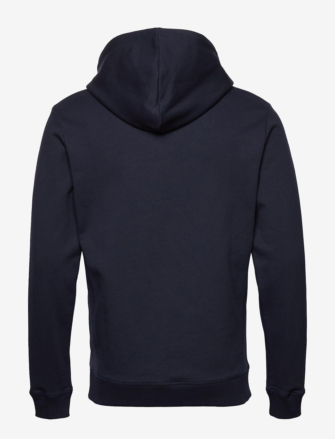 Les Deux - Fleur D'été Hoodie - hoodies - dark navy/dark papaya flower pattern