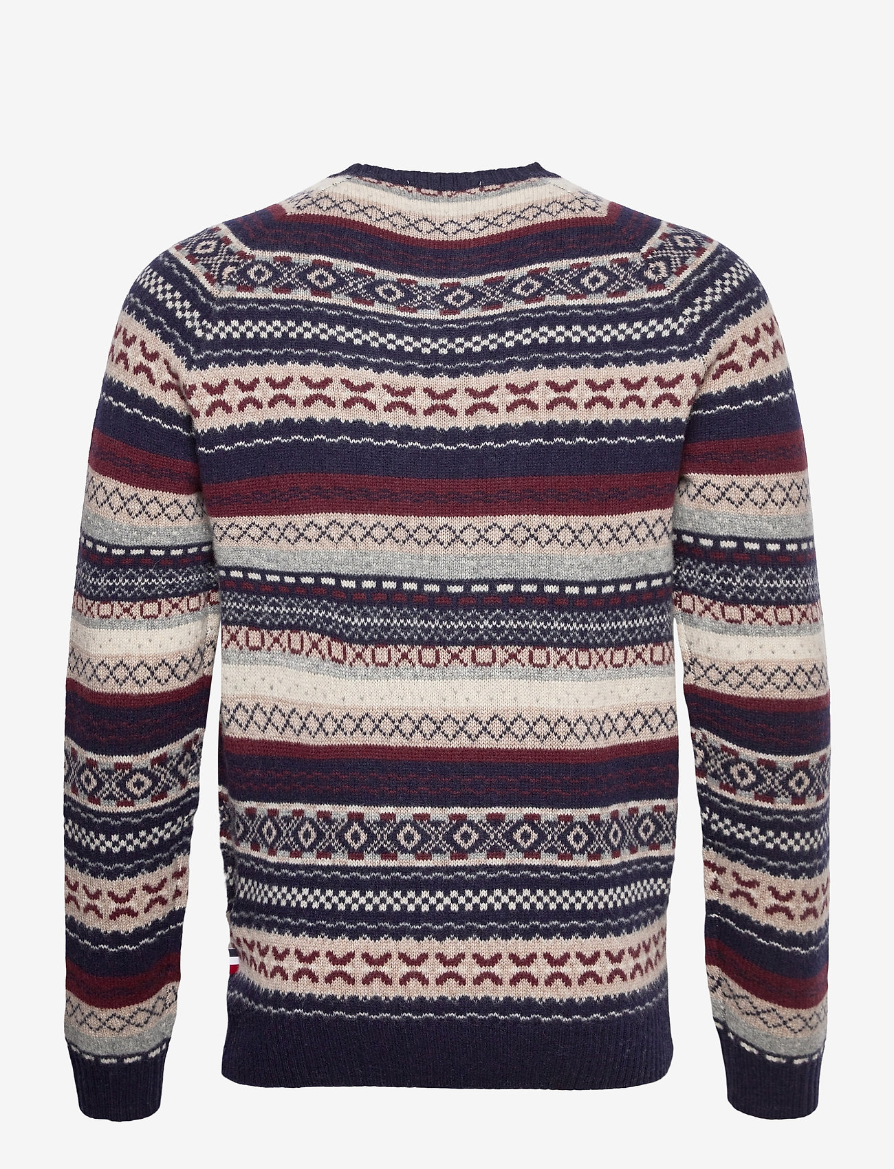 Eugene Wool Knit (Dark Navy With Multicolor Artwork) (159 €) - Les Deux mwJFn