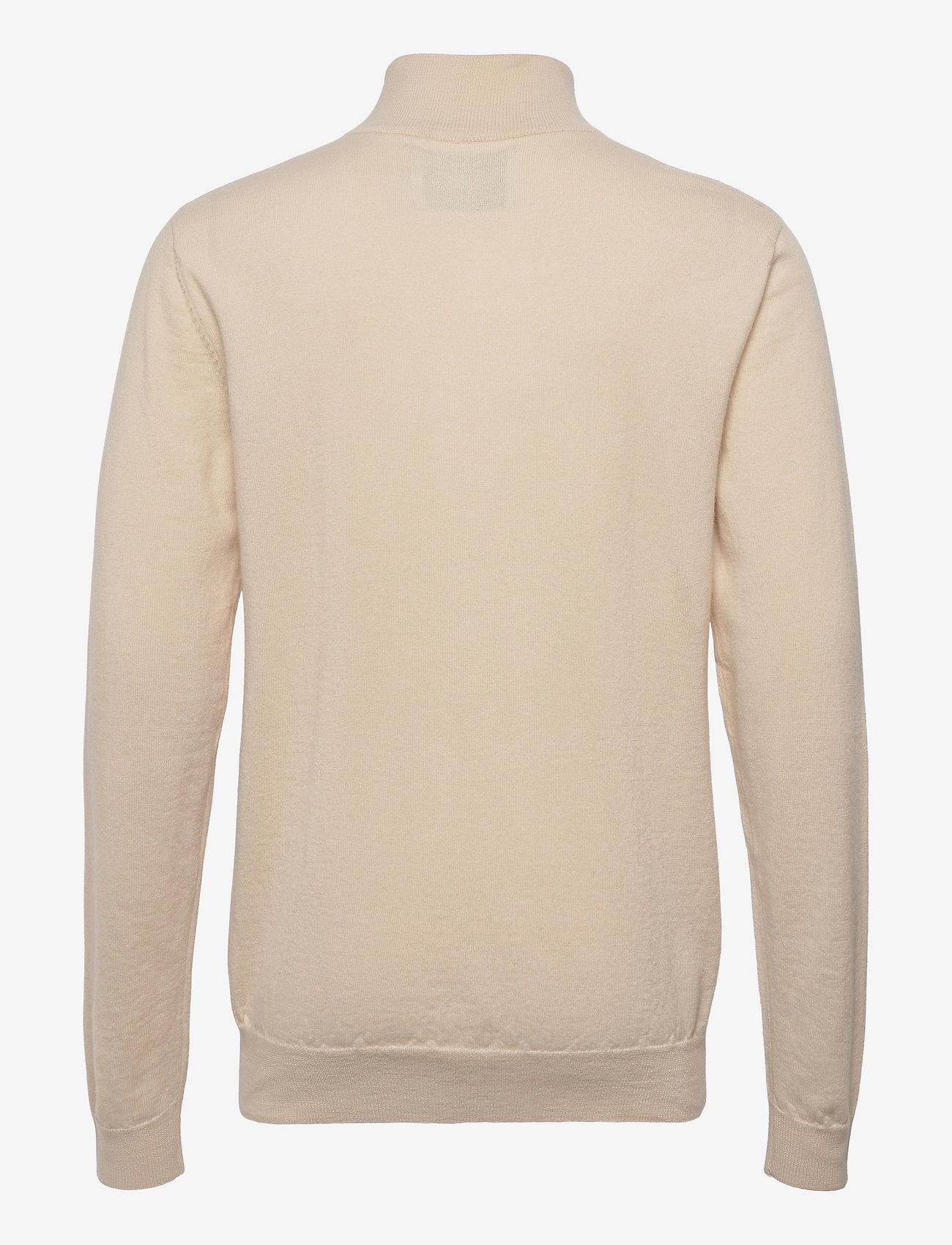 Les Deux - Edgar Half Zip Wool Knit - half zip - ivory - 1