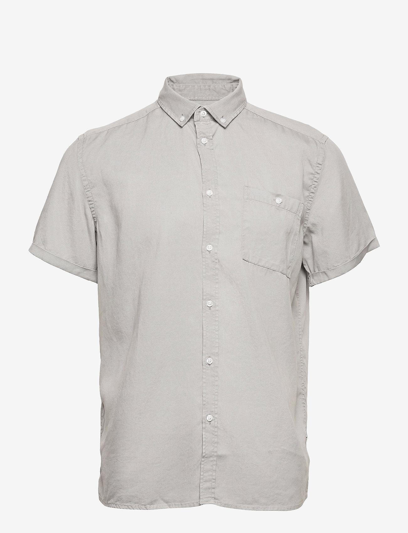 Les Deux - Leonardo Tencel Twill SS Shirt - koszule w kratkę - mirage gray - 0
