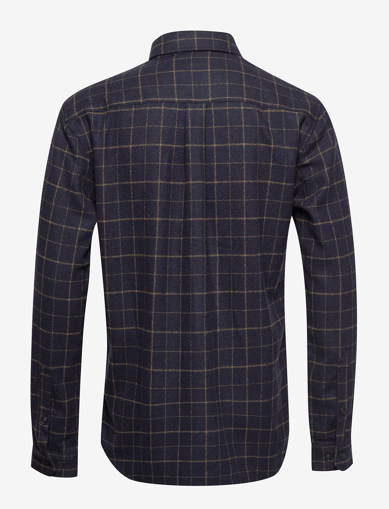 Dines Shirt Jacket (Dark Navy) - Les Deux M9xErV