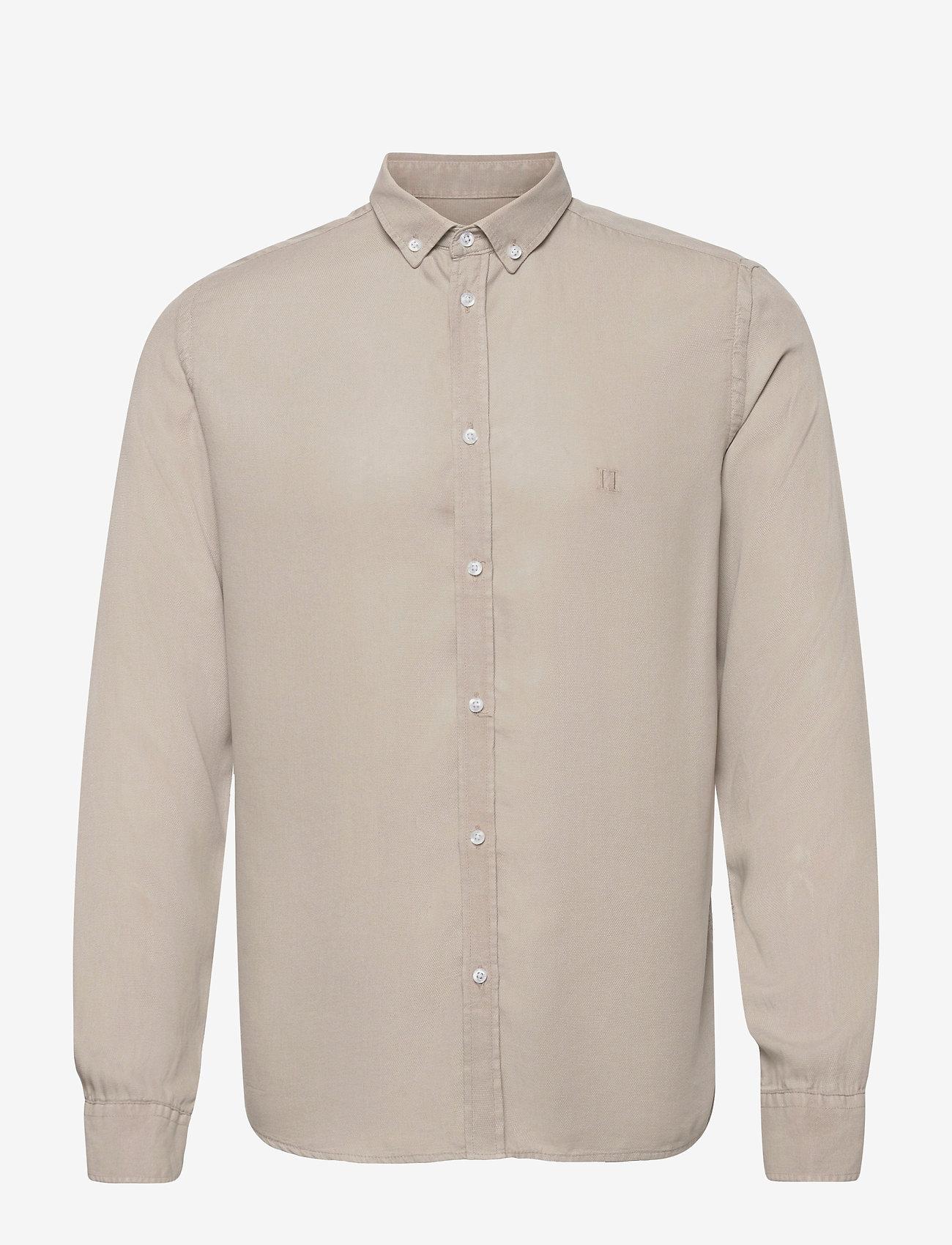 Les Deux - Laurent Tencel Dobby Shirt - chemises à carreaux - dark sand - 0