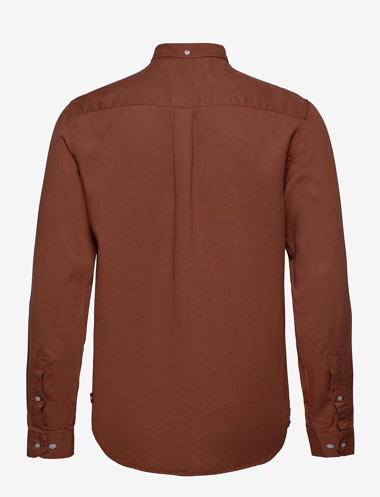 Les Deux - Laurent Tencel Twill Shirt - chemises à carreaux - rust red - 1