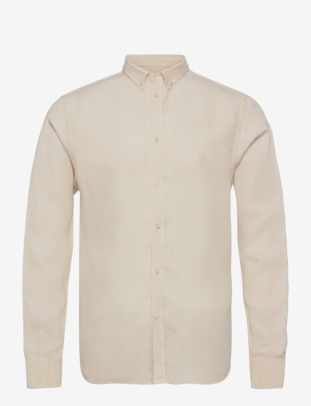 Les Deux - Christoph Tencel Dobby Shirt - linnen overhemden - ivory - 0
