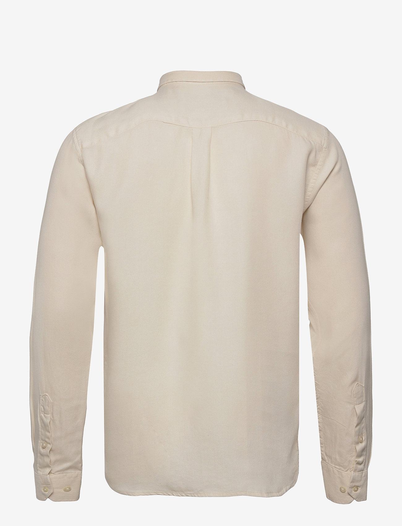 Les Deux - Christoph Tencel Dobby Shirt - linnen overhemden - ivory - 1
