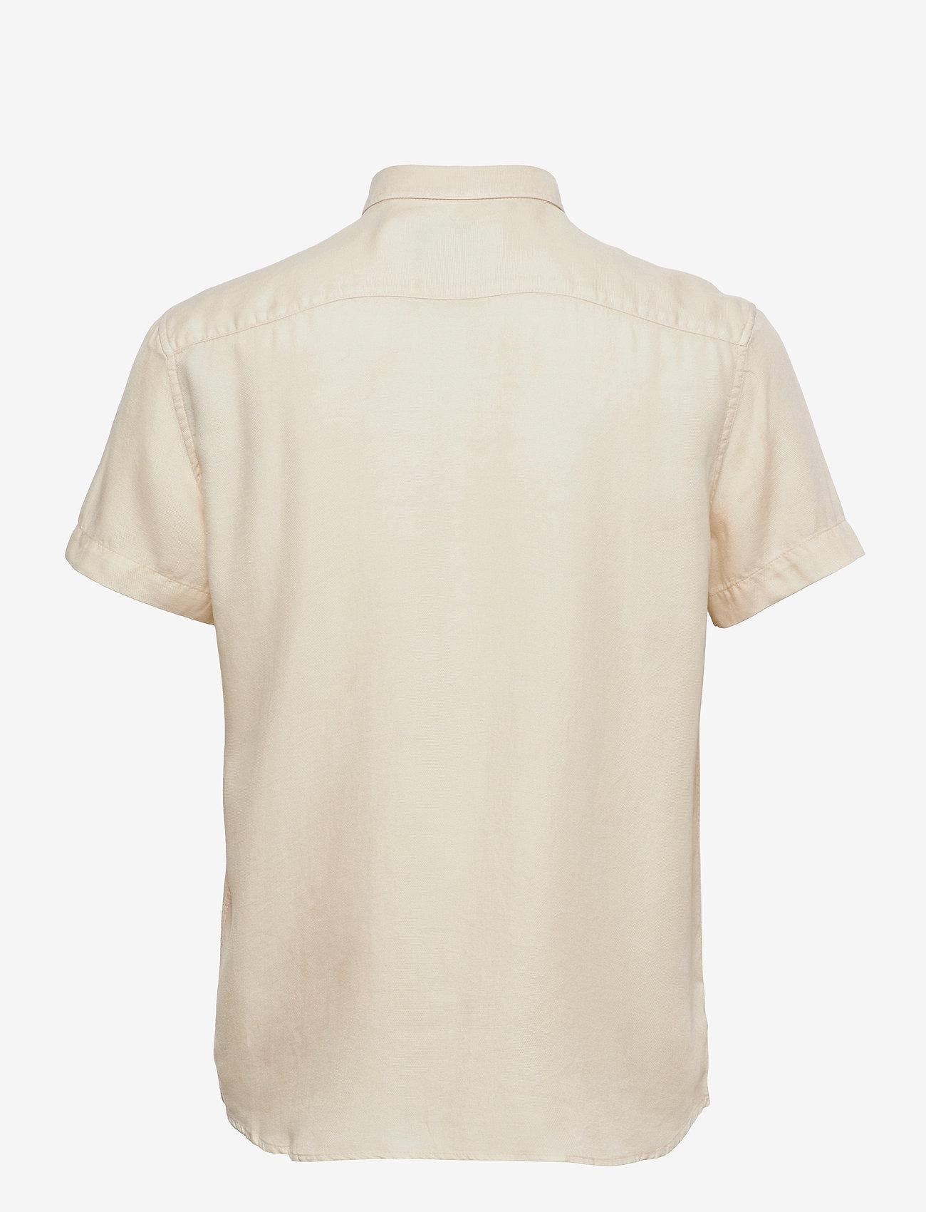 Les Deux - Harvey Tencel Dobby SS Shirt - geruite overhemden - ivory - 1