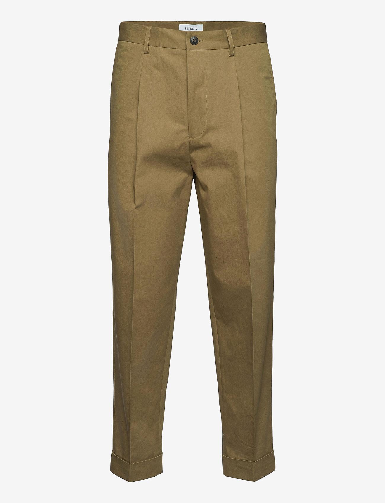 Les Deux - Preston Cotton Pants - pantalons chino - stone brown - 0