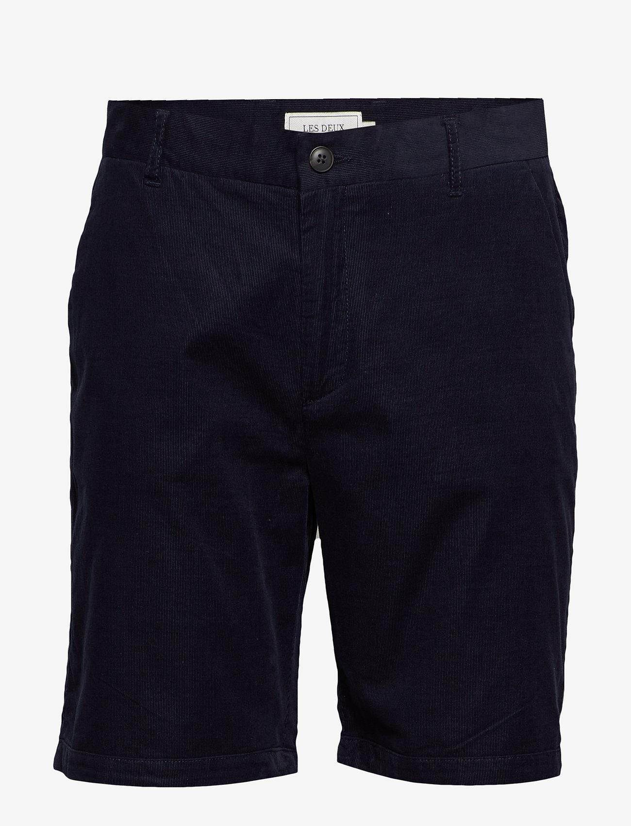 Les Deux - Felix Corduroy Light Shorts - chinot - dark navy