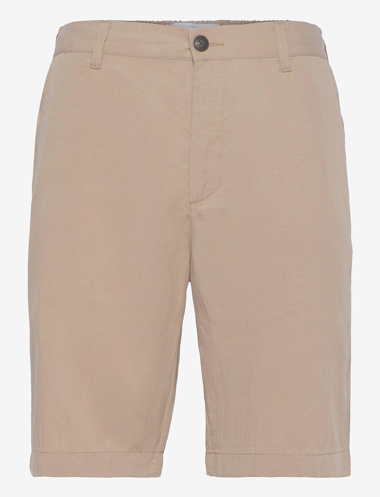 Les Deux - Pino Linen-Tencel Shorts - chino's shorts - dark sand - 0