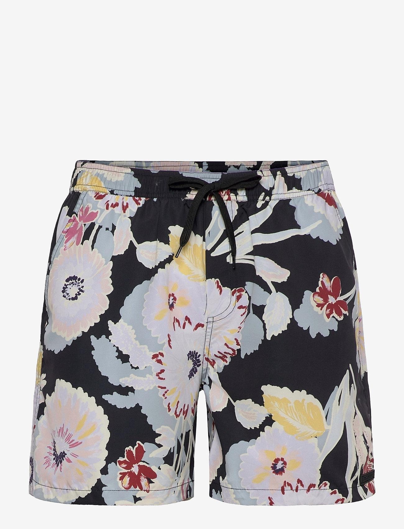 Les Deux - Quinn AOP Fiori Swim Shorts - shorts de bain - black/multicolor - 0