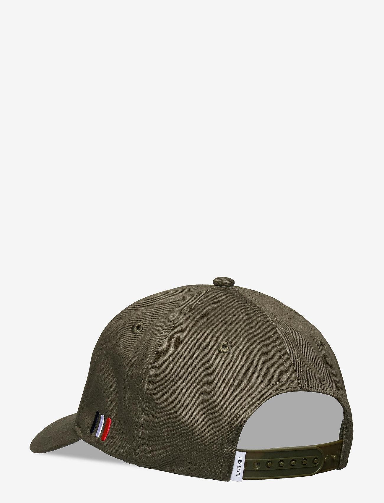 Les Deux - Encore Organic Baseball Cap - czapki - lichen green/mirage grey - 1