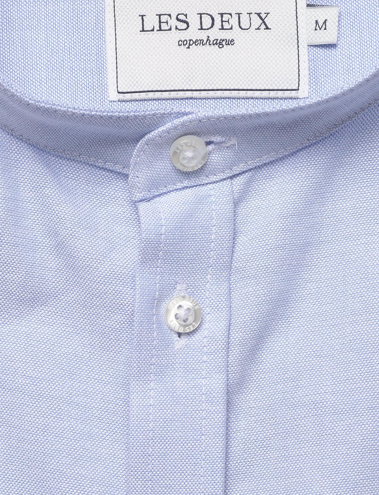 Les Deux Christoph Mandarin Shirt - Skjortor Light Blue