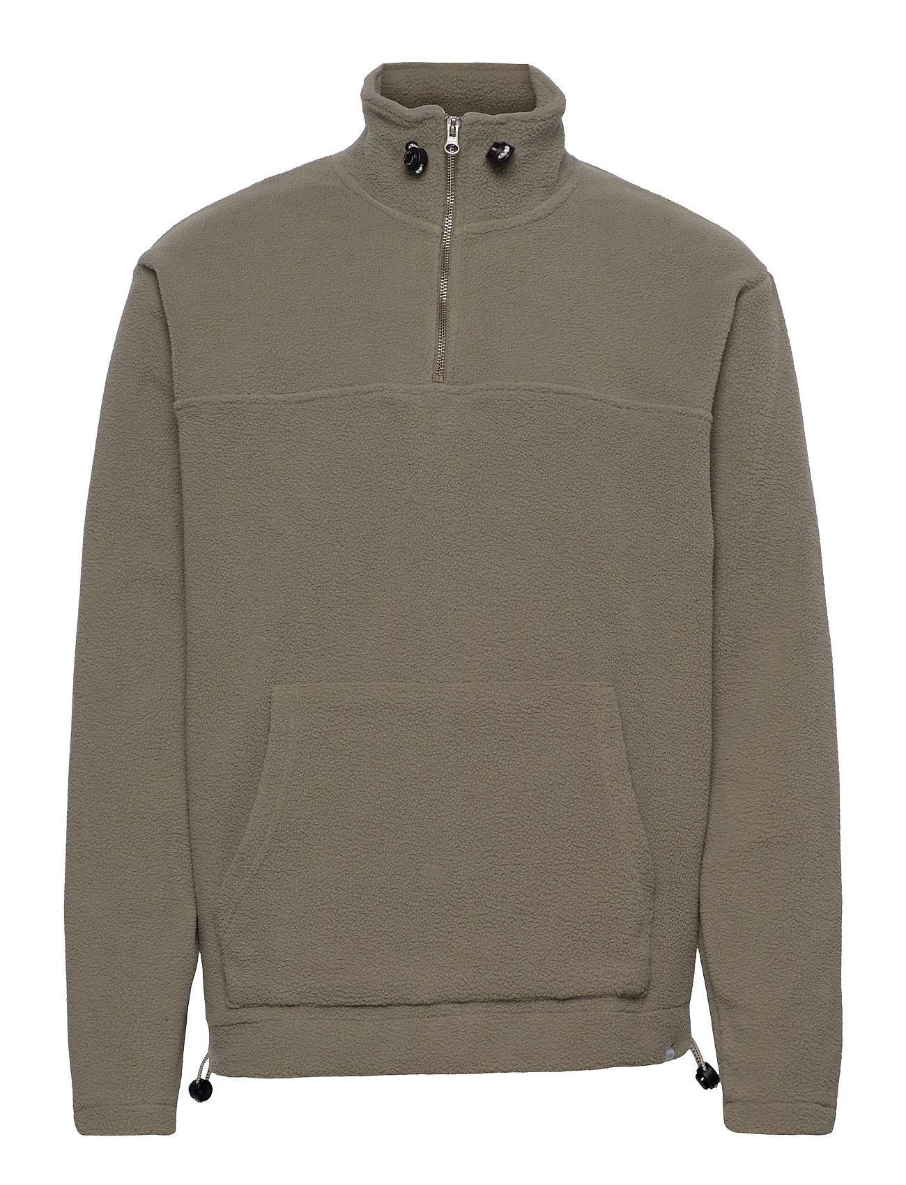 Bond Fleece Halfzip Sweatshirt Knitwear Half Zip Jumpers Grøn Les Deux