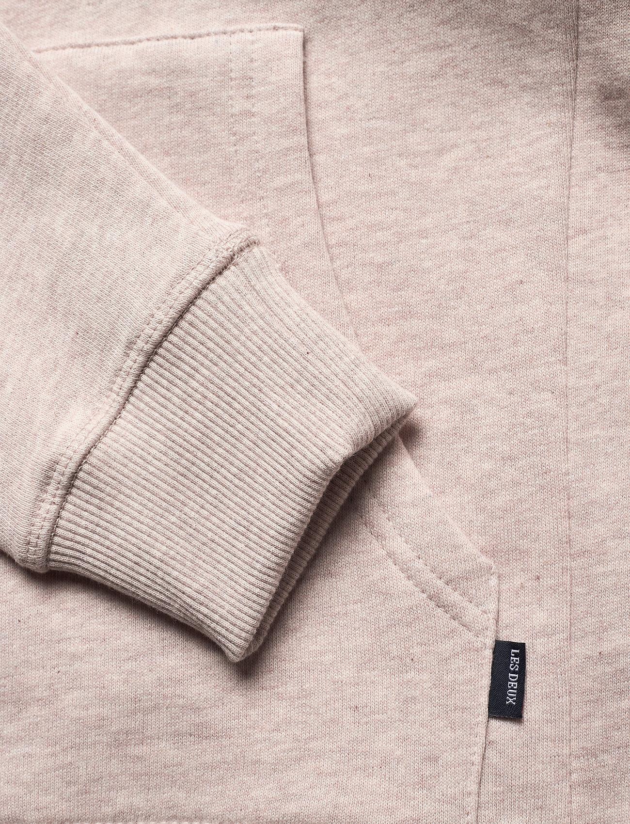 Les Deux Piece Hoodie - Sweatshirts LIGHT BROWN MELANGE/NAVY-LT. BLUE - Menn Klær