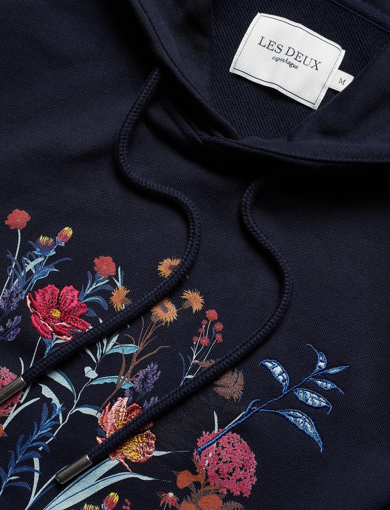 Les Deux Fleur D'été Hoodie - Sweatshirts Dark Navy/dark Papaya Flower Pattern