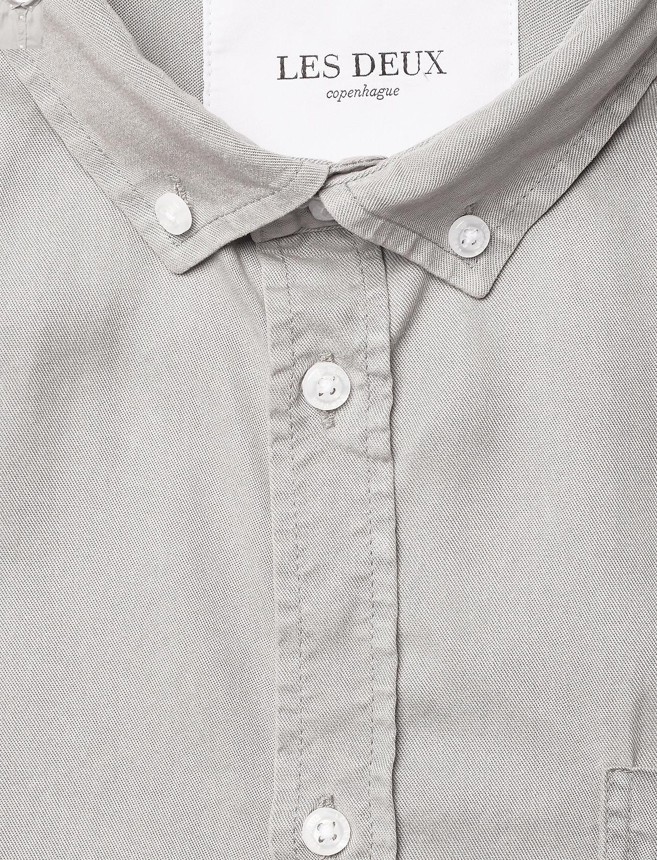 Les Deux - Leonardo Tencel Twill SS Shirt - koszule w kratkę - mirage gray - 2