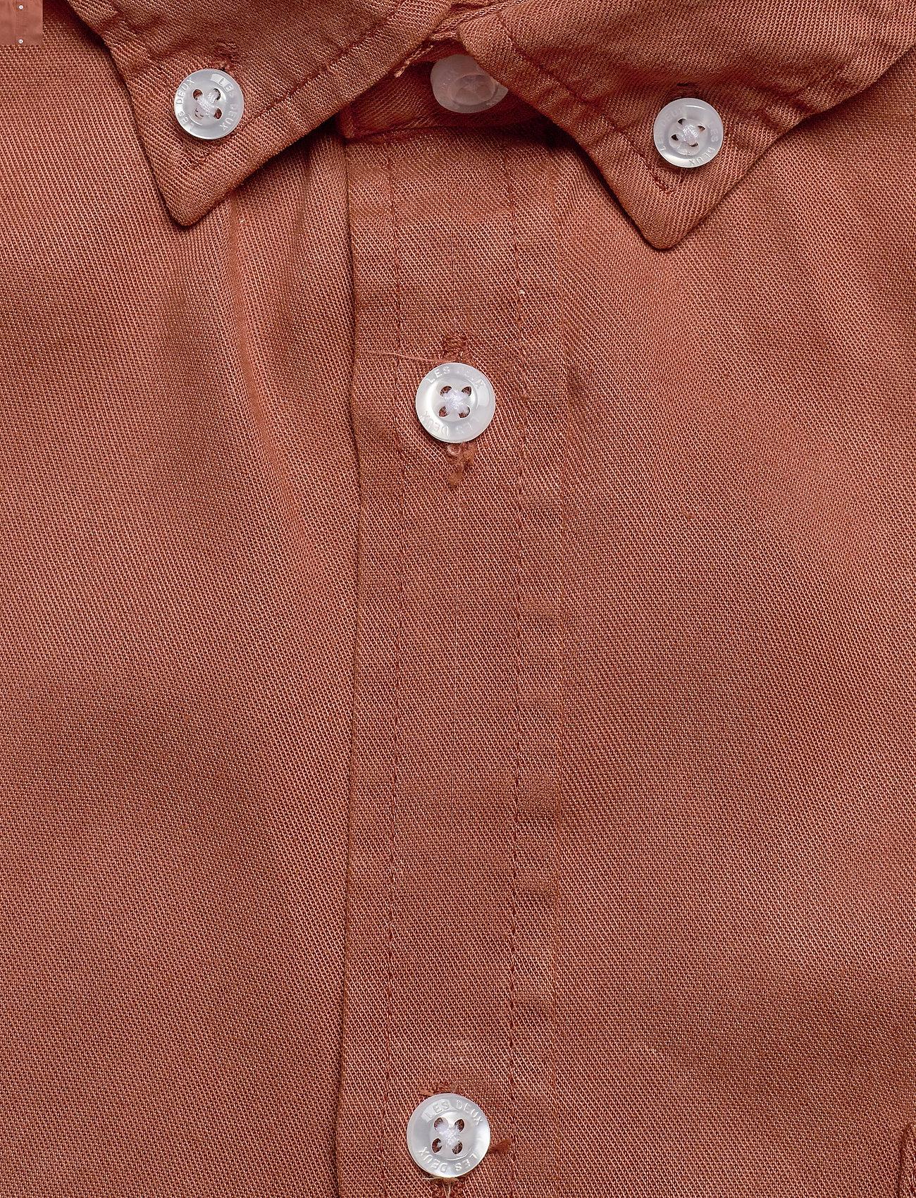 Les Deux - Leonardo Tencel Twill SS Shirt - chemises à carreaux - rust red - 2