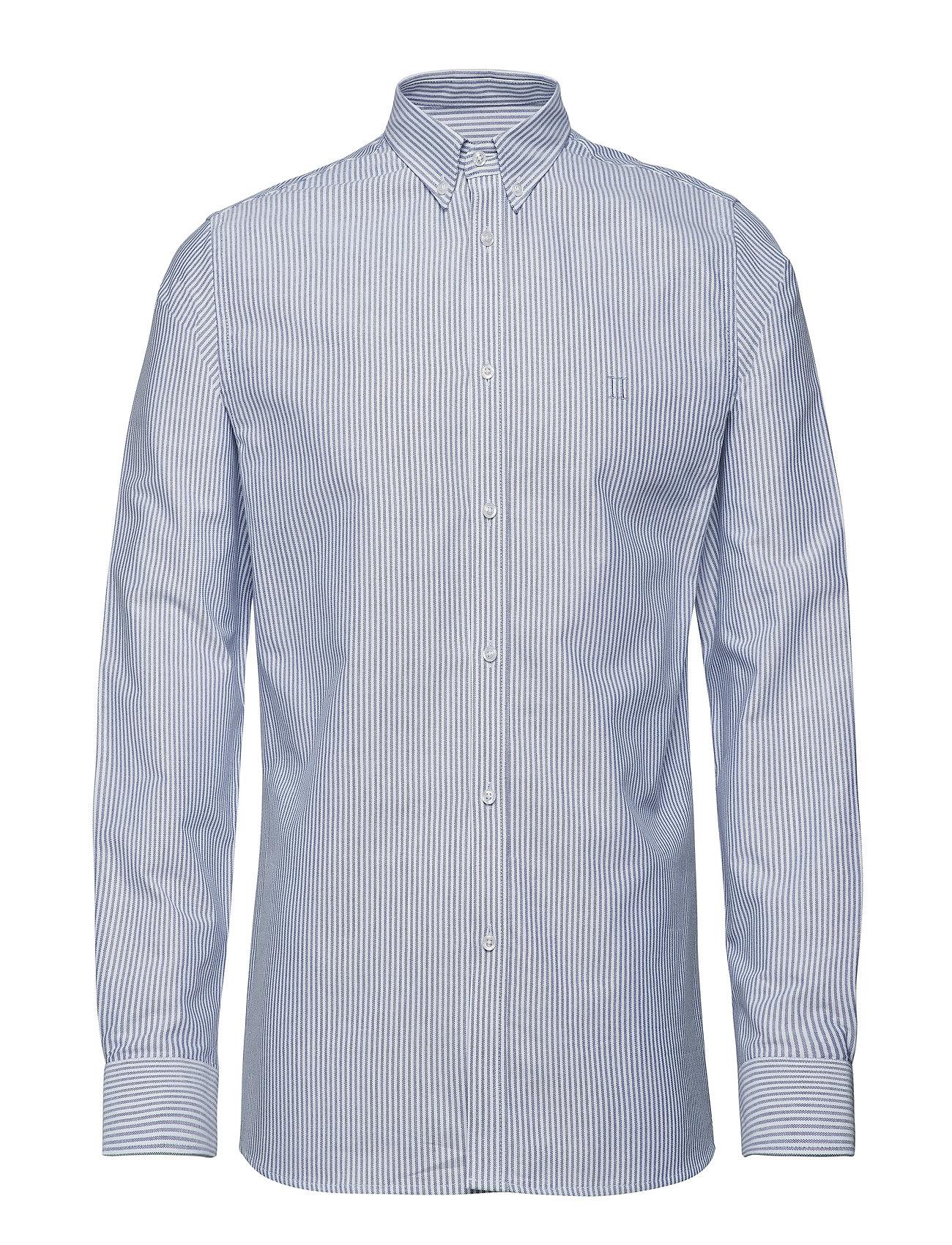 Les Deux Christoph Oxford Shirt - STRIPE DARK NAVY