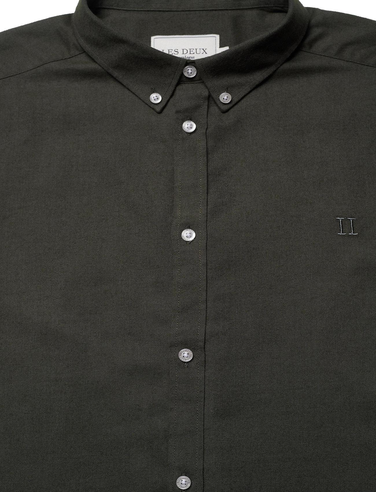 Les Deux Harrison B.D. Brushed Shirt - Skjorter DEEP FORREST - Menn Klær
