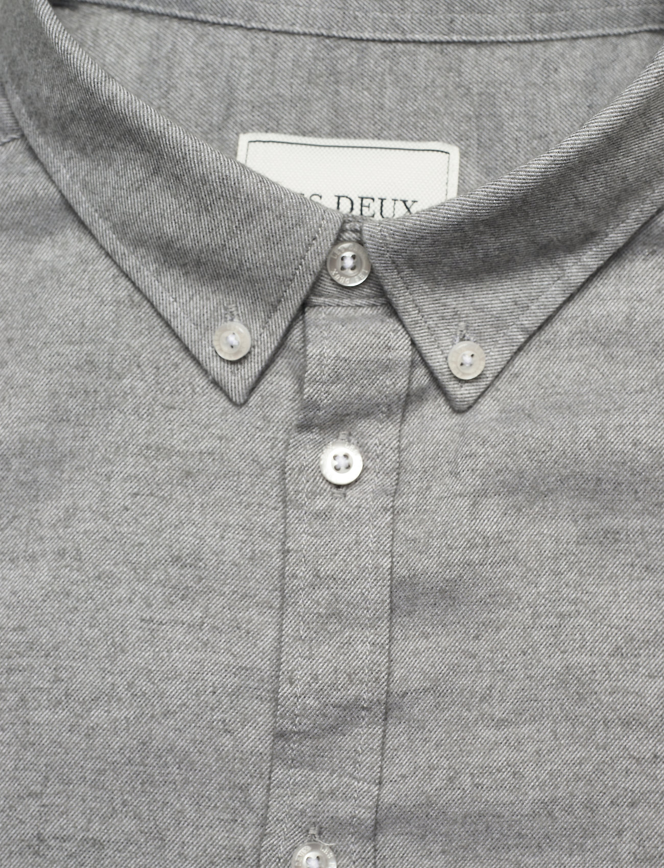 Les Deux Harrison B.D. Brushed Shirt - Skjorter LIGHT GREY MELANGE - Menn Klær