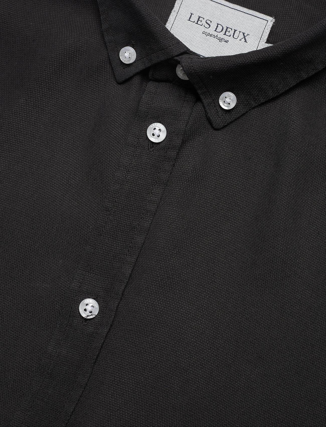 Les Deux - Laurent Tencel Dobby Shirt - chemises à carreaux - black - 3