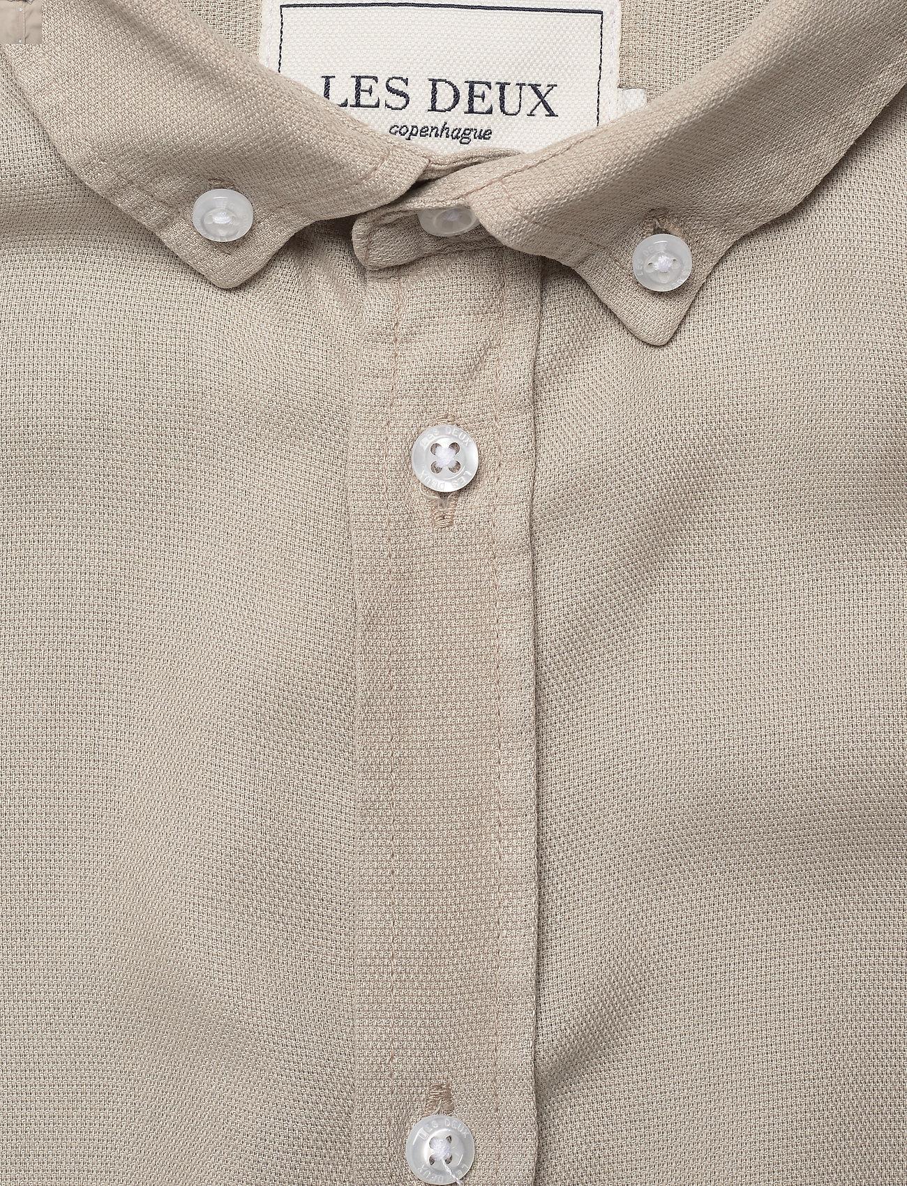 Les Deux - Laurent Tencel Dobby Shirt - koszule w kratkę - dark sand - 2
