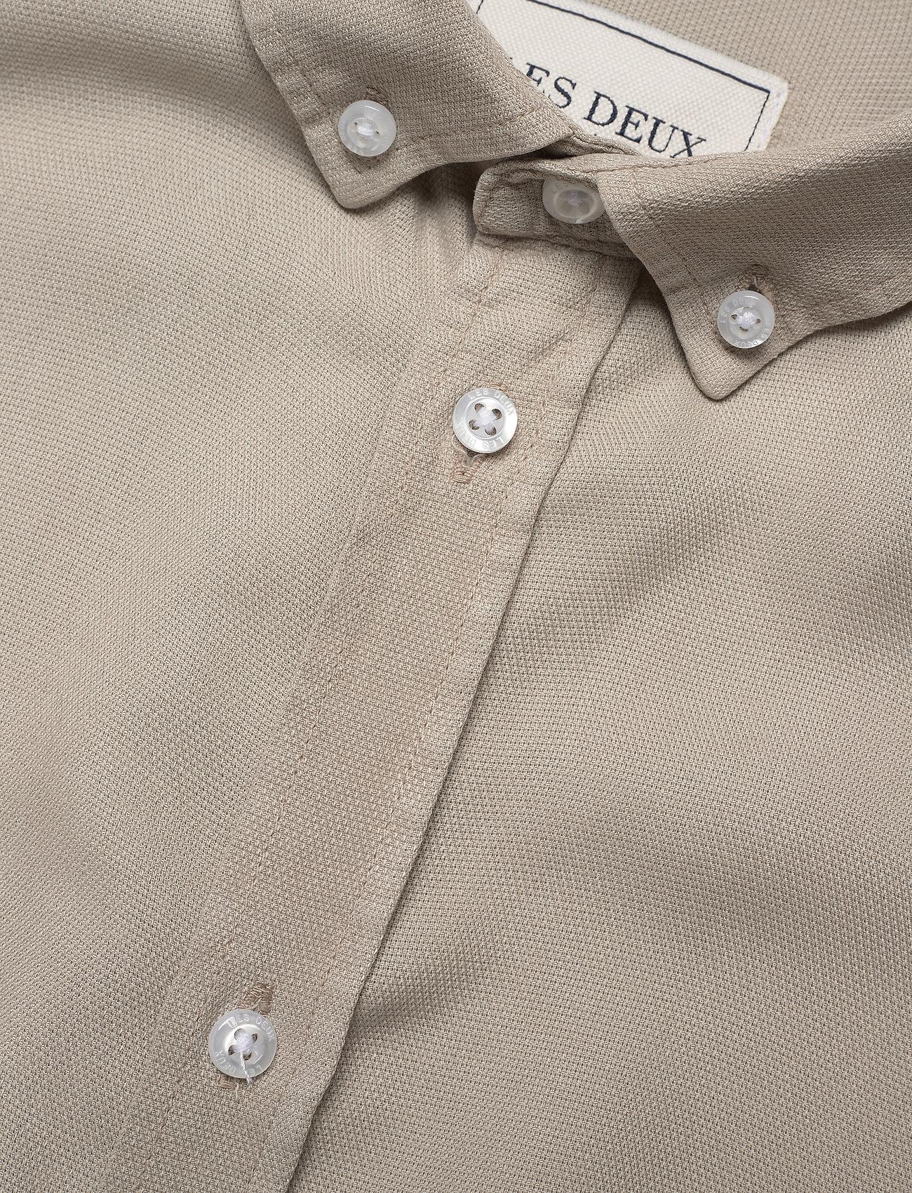 Les Deux - Laurent Tencel Dobby Shirt - koszule w kratkę - dark sand - 3