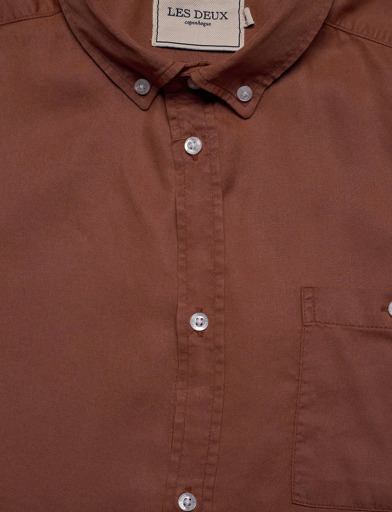 Les Deux - Laurent Tencel Twill Shirt - chemises à carreaux - rust red - 2