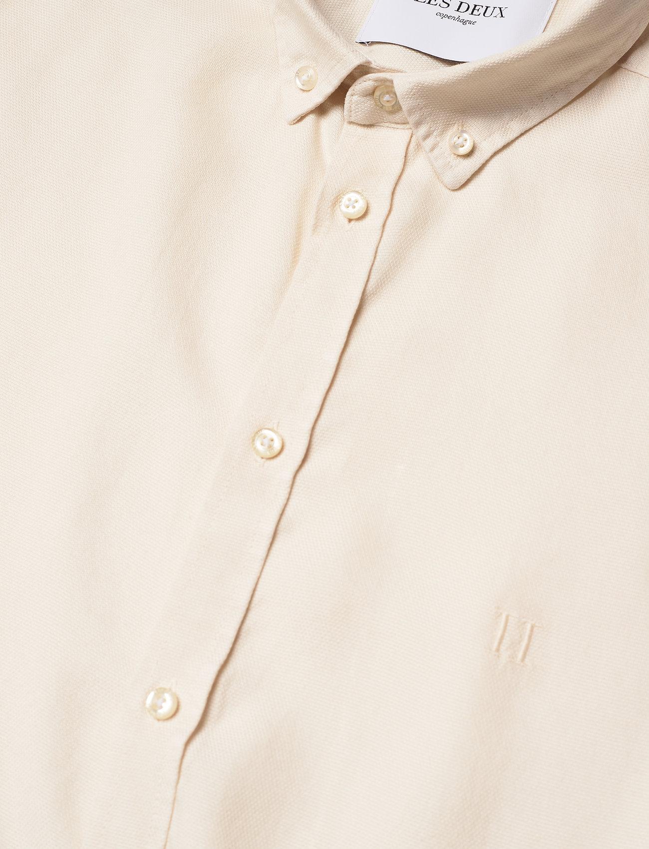 Les Deux - Harvey Tencel Dobby SS Shirt - geruite overhemden - ivory - 3