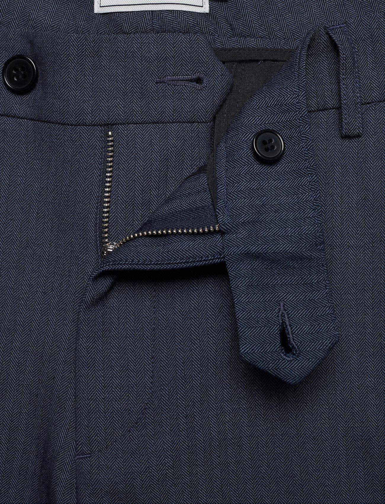 Les Deux Como Light Herringbone Suit Pants - Bukser DARK NAVY - Menn Klær