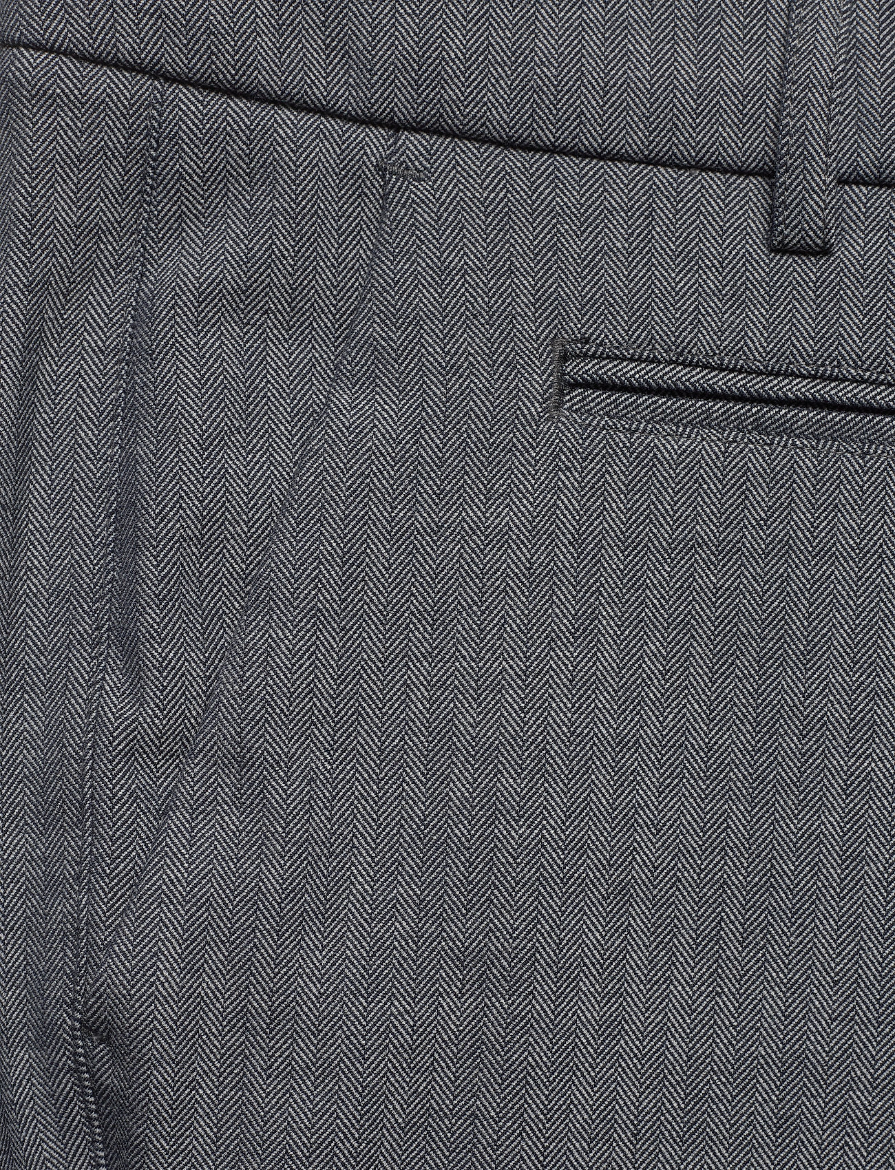 Les Deux Como Light Herringbone Suit Pants - Bukser DARK NAVY/SNOW MELANGE - Menn Klær