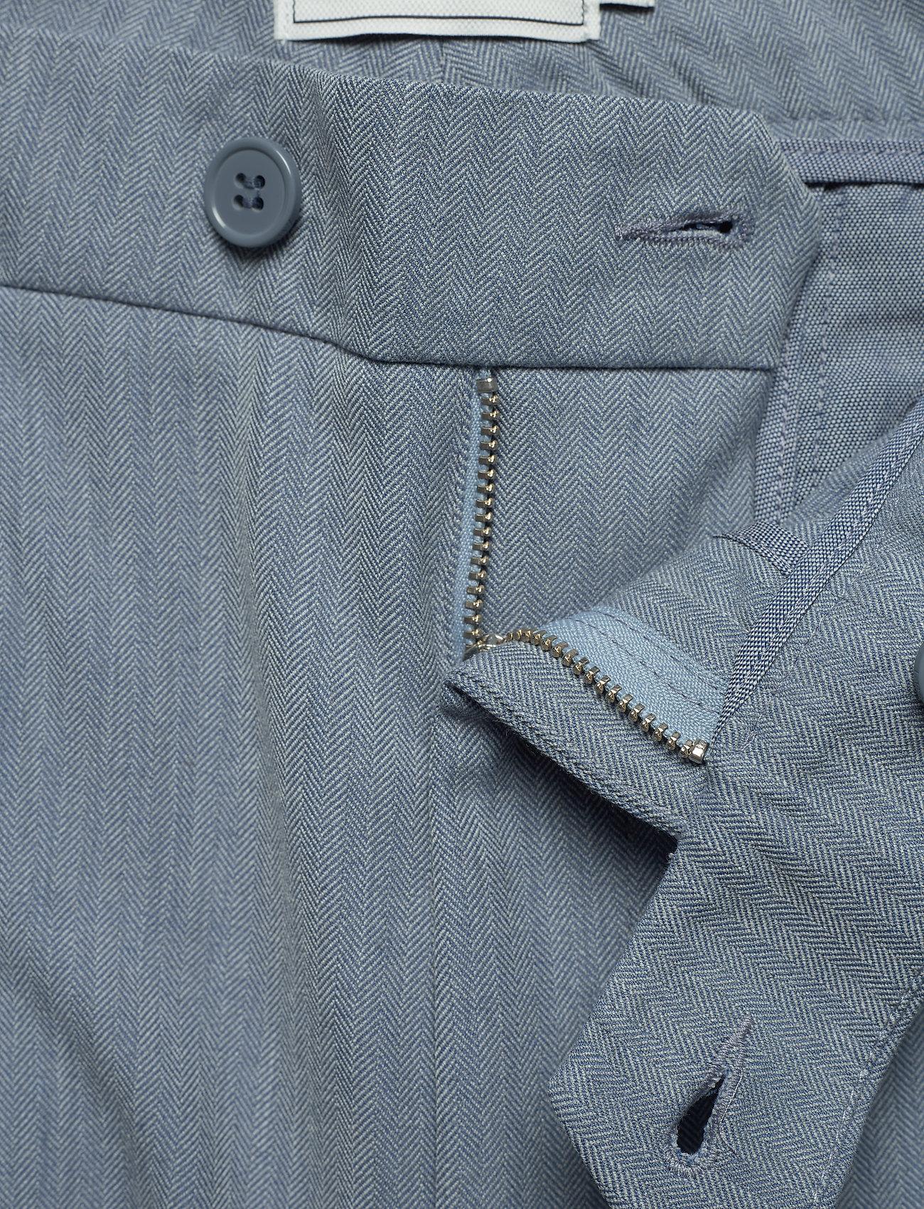 Les Deux Como Light Herringbone Suit Pants - Bukser PROVINCIAL BLUE - Menn Klær