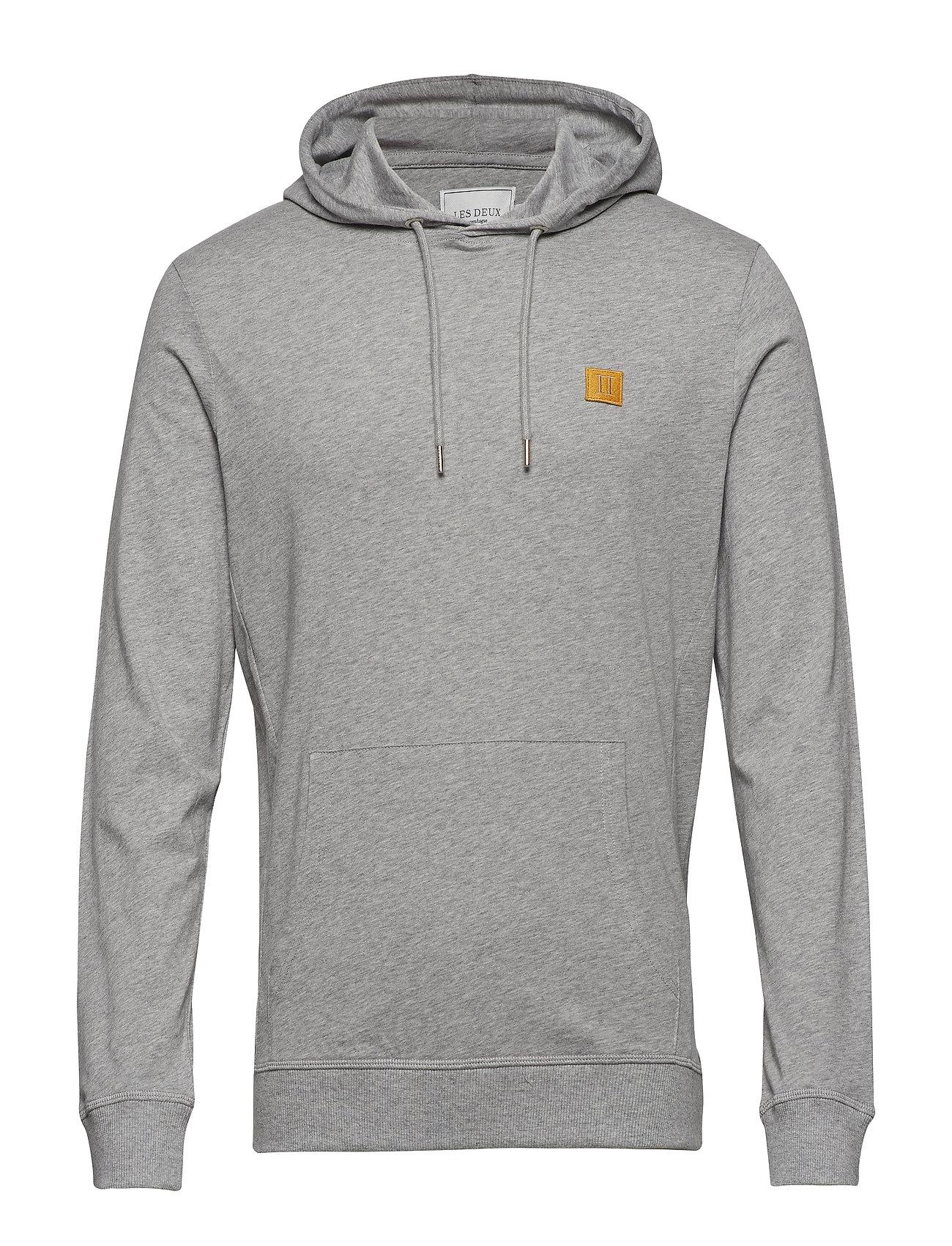 Les Deux Boozt T-shirt Hoodie - GREY MELANGE