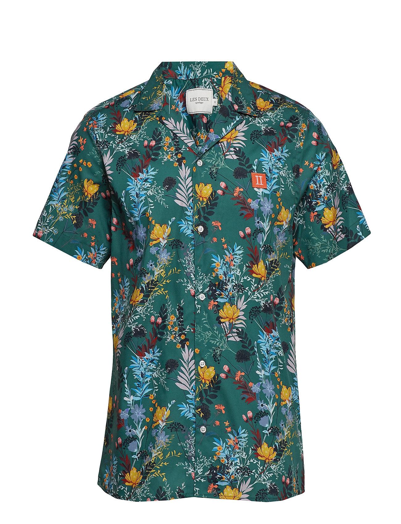 Les Deux Boozt SS Shirt - DARK PETROL BLUE