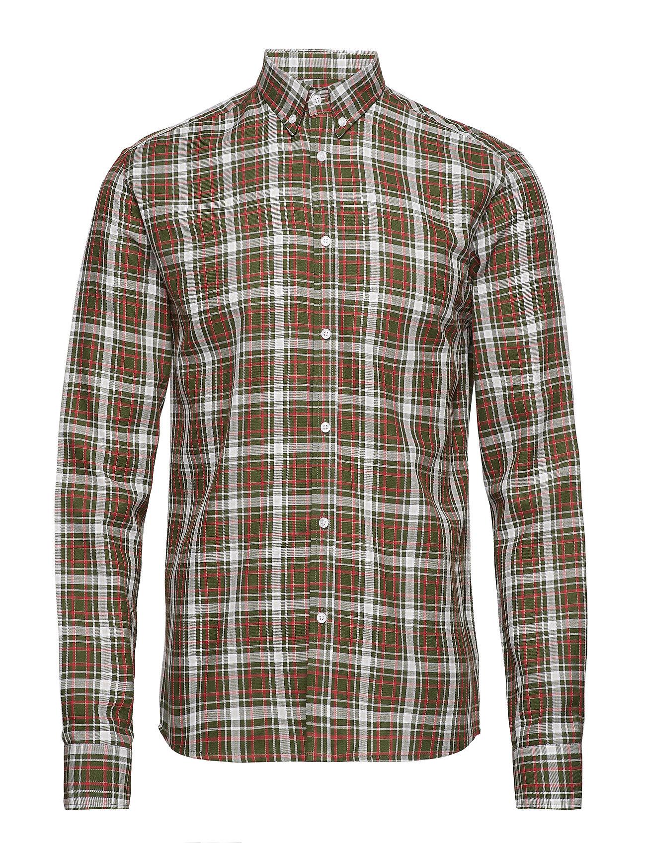 Les Deux Boswell Shirt - DARK GREEN CHECK