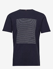 Les Deux - Antibes T-shirt - printed t-shirts - dark navy/off white - 0