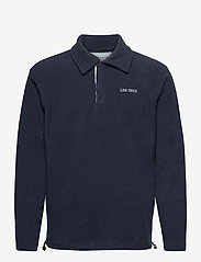Les Deux - Dallas Fleece Rugby Sweatshirt - basic-sweatshirts - dark navy - 0