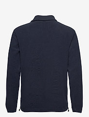 Les Deux - Dallas Fleece Rugby Sweatshirt - basic-sweatshirts - dark navy - 1