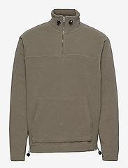 Les Deux - Bond Fleece Halfzip Sweatshirt - half zip - lichen green - 0