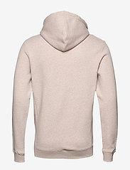 Les Deux - Piece Hoodie - hoodies - light brown melange/navy-lt. blue - 1