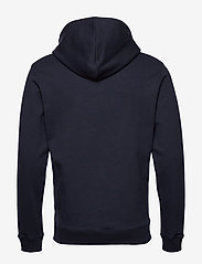 Les Deux - Fleur D'été Hoodie - hoodies - dark navy/dark papaya flower pattern - 1