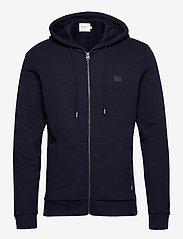 Les Deux - Clinton Zipper Hoodie - basic sweatshirts - dark navy/black - 0