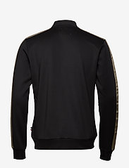 Les Deux - Hermité Track Jacket - podstawowe bluzy - black/dk. olive green - 1