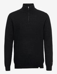 Edgar Half Zip Wool Knit - BLACK