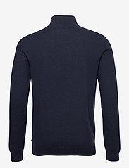 Les Deux - Edgar Half Zip Wool Knit - half zip - dark navy - 1