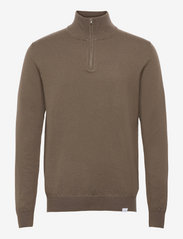 Edgar Half Zip Wool Knit - MOUNTAIN GREY