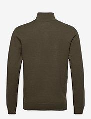 Les Deux - Edgar Half Zip Wool Knit - half zip - turtle green - 1