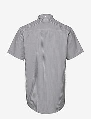 Les Deux - Lyon Seersucker SS Shirt - peruspaitoja - white/navy stripe - 1
